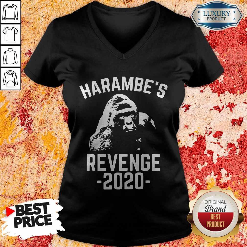 Funny Harambes Revenge 2020 V-neck