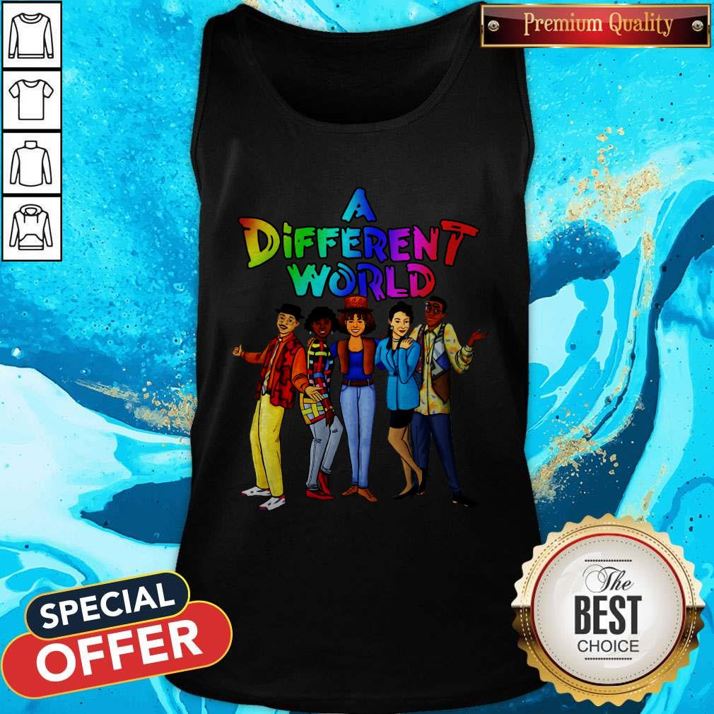 Funny LGBT A Different World Tank Top