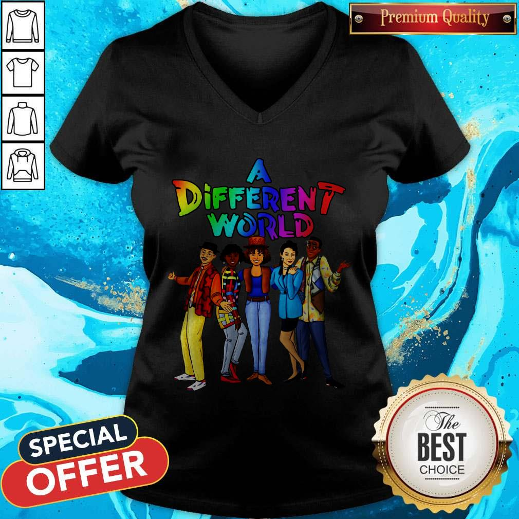 Funny LGBT A Different World V-neck
