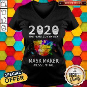 Funny Paint 2020 Mask Maker #Essential V-neck