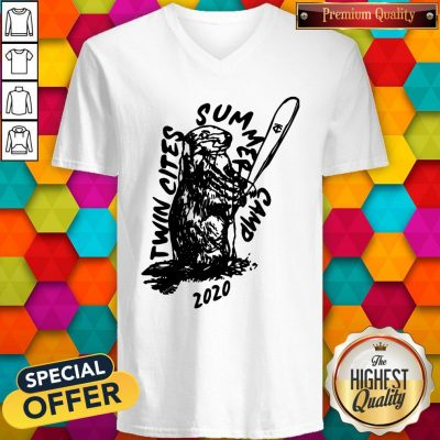 Funny Twin Cities Summer Camp 2020 Minnesota Twins V-neck