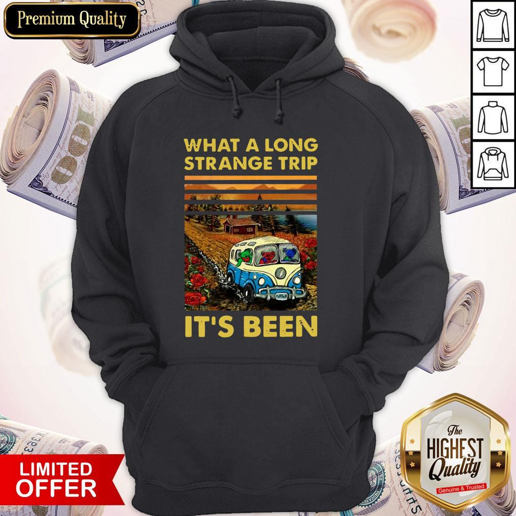 Funny What A Long Strange Trip It's Been Vintage Hoodie