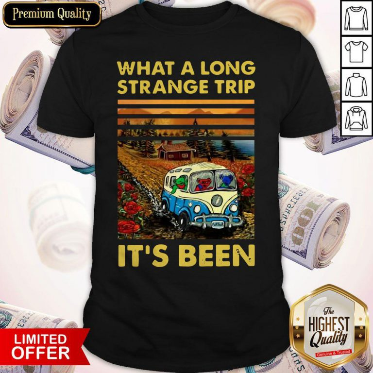 Funny What A Long Strange Trip It's Been Vintage Shirt
