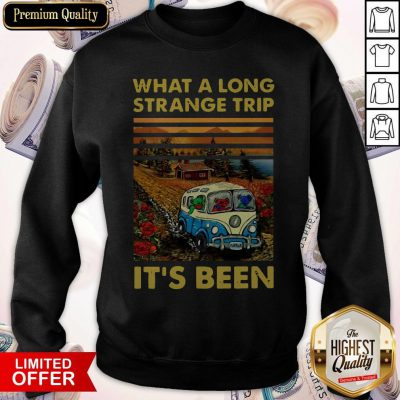 Funny What A Long Strange Trip It's Been Vintage Sweatshirt
