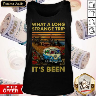 Funny What A Long Strange Trip It's Been Vintage Tank Top