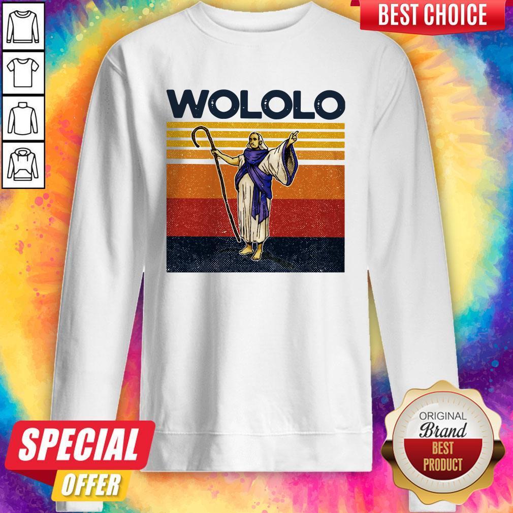Funny Wololo Vintage Sweatshirt