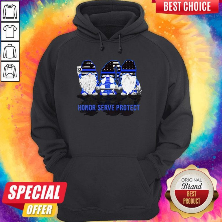 Gnomes Honor Serve Protect American Flag Independence Day Hoodie