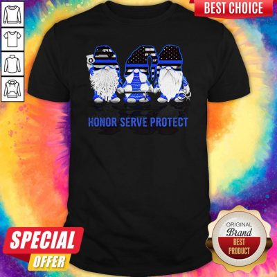 Gnomes Honor Serve Protect American Flag Independence Day Shirt