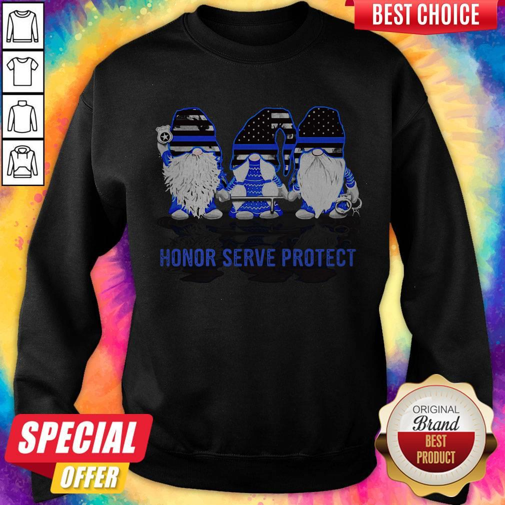 Gnomes Honor Serve Protect American Flag Independence Day Sweatshirt