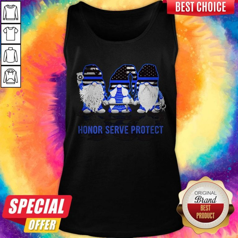 Gnomes Honor Serve Protect American Flag Independence Day Tank Top