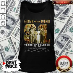 Gone With The Wind 81 Years Of Release 1939 2020 Thank You For The Memories Signatures Tank Top