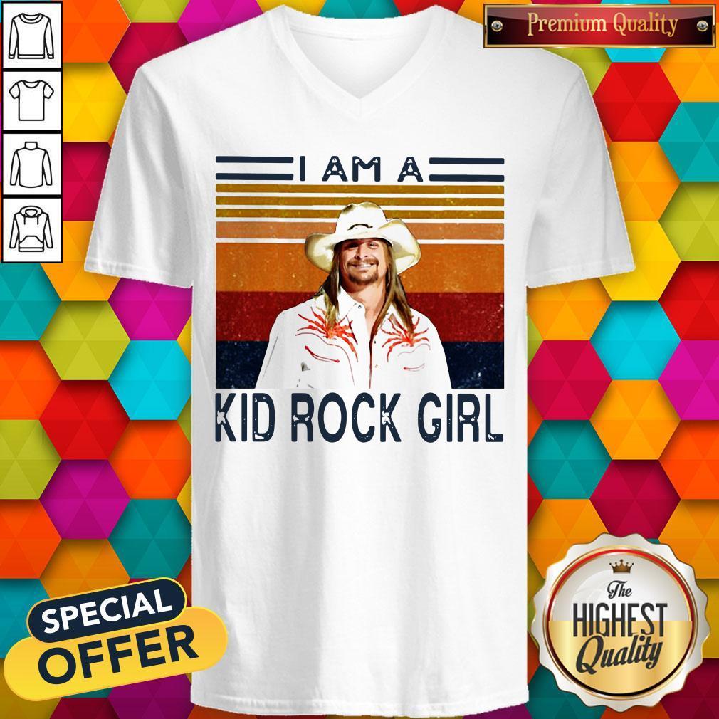 Good I Am A Kid Rock Girl Vintage V-neck