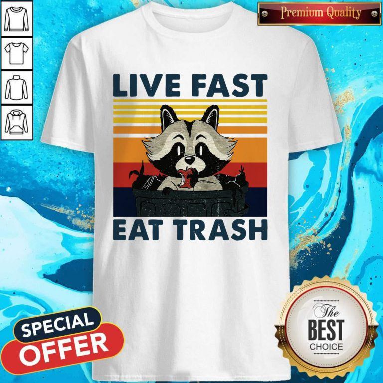 Good Raccoon Live Fast Eat Trash Vintage Shirt
