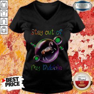 Good Stay Out My Bubble Coronavirus Horse V-neck