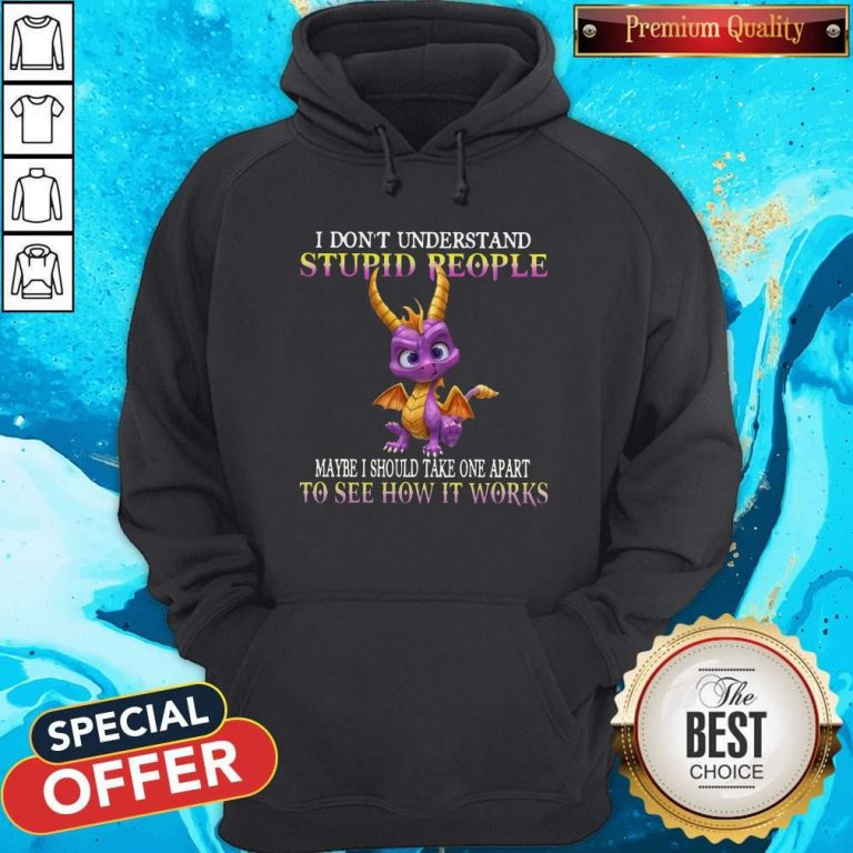 I Don't Understand Stupid People Maybe I Should Take One Apart To See How It Works Hoodie