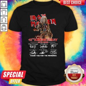 Iron Maiden 45Th Anniversary 1975 2020 Thank You For The Memories Signatures Band Shirt