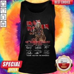 Iron Maiden 45Th Anniversary 1975 2020 Thank You For The Memories Signatures Band Tank Top