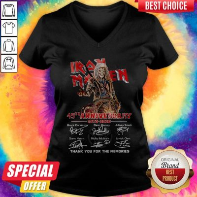 Iron Maiden 45Th Anniversary 1975 2020 Thank You For The Memories Signatures Band V-neck