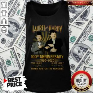 Laurel And Hardy 100th Anniversary 1920 2020 Thank You For The Memories Signature Tank Top