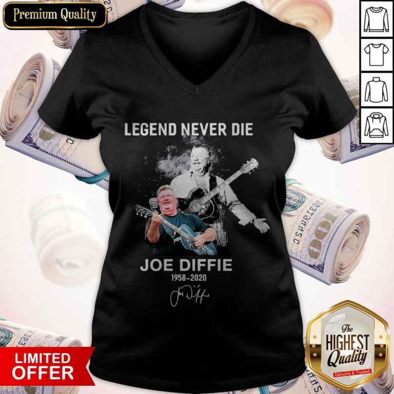 Legend Never Die Joe Diffie 1958 2020 Signature V-neck
