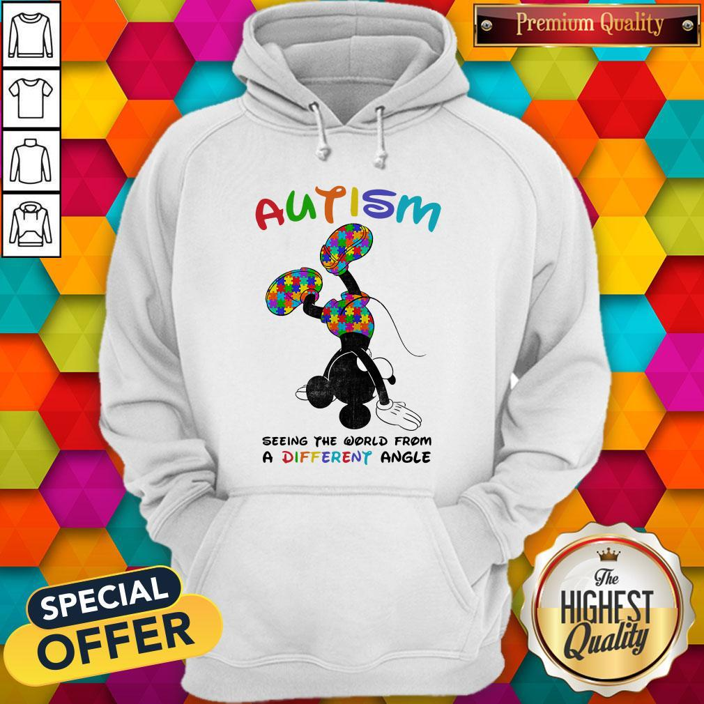 Mickey Mouse Autism Seeing The World From A Different Angle Hoodie