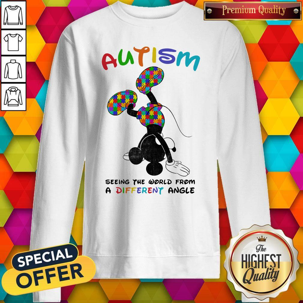 Mickey Mouse Autism Seeing The World From A Different Angle Sweatshirt