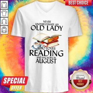 Never Underestimate An Old Lady Who Loves Reading And Was Born In February V-neck