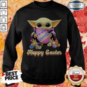 Nice Baby Yoda Hug Easter Egg Happy Easter Sweatshirt
