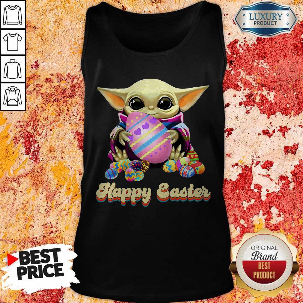 Nice Baby Yoda Hug Easter Egg Happy Easter Tank Top