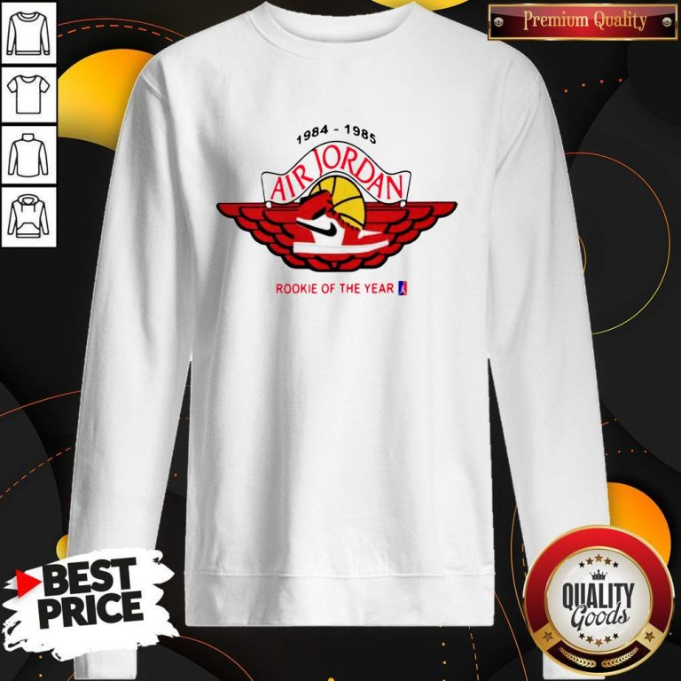 Nice Michael Jordan Rookie Of The Year 1984 – 1985 Sweatshirt