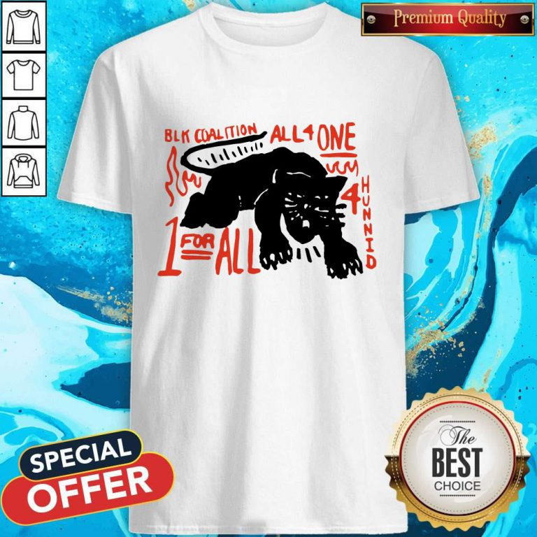 Nice Panther Black Coalition All For One Shirt