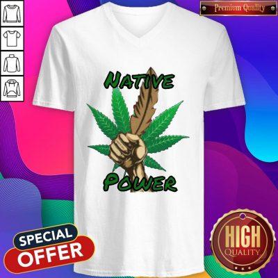 Nice Weed Native Power V-neck