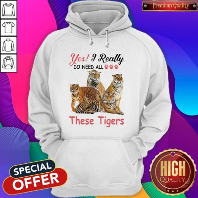 Nice Yes I Really Do Need All These Tigers Hoodie