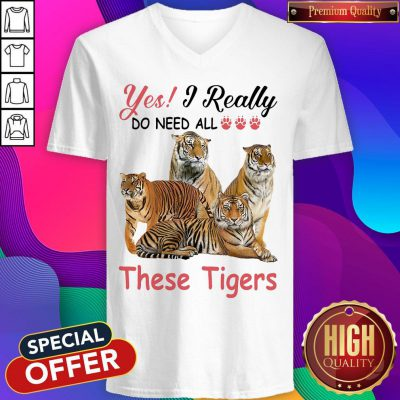 Nice Yes I Really Do Need All These Tigers V-neck