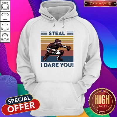 Official Baseball Steal I Dare You Vintage Hoodie