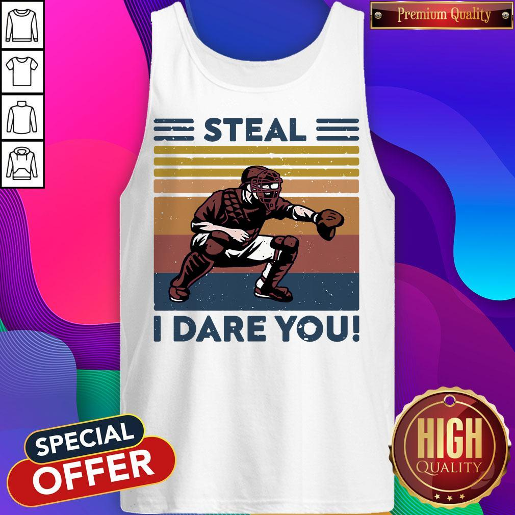 Official Baseball Steal I Dare You Vintage Tank Top