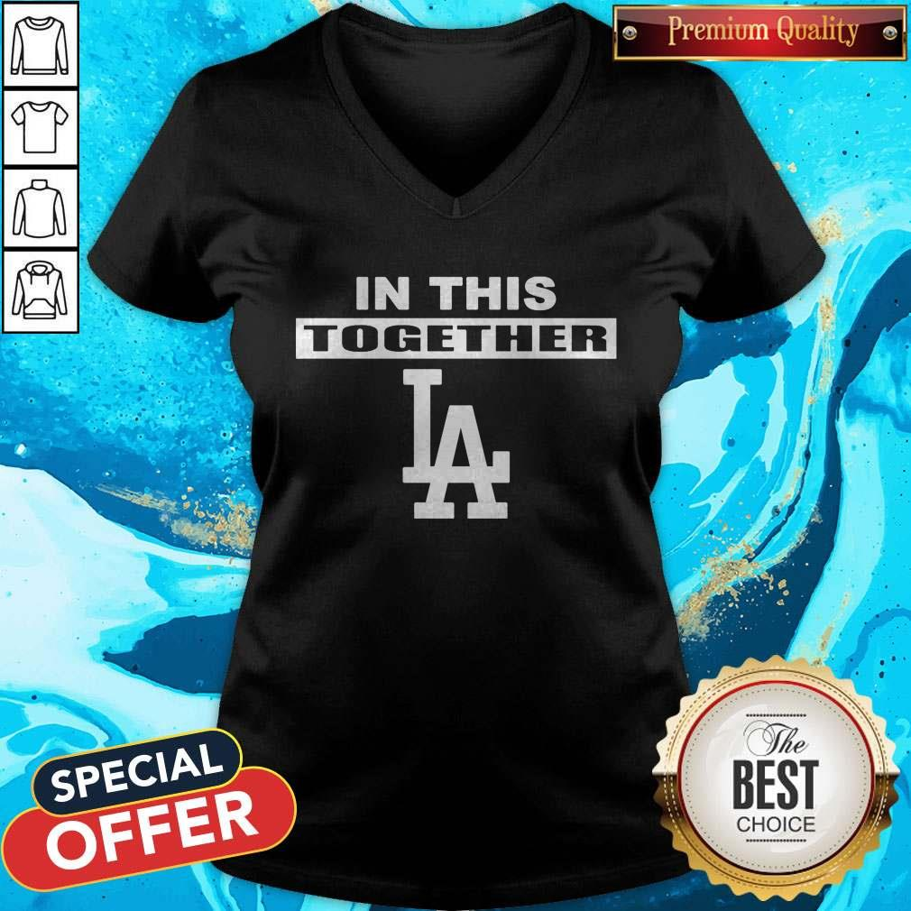 Official Dodgers In This Together V-neck