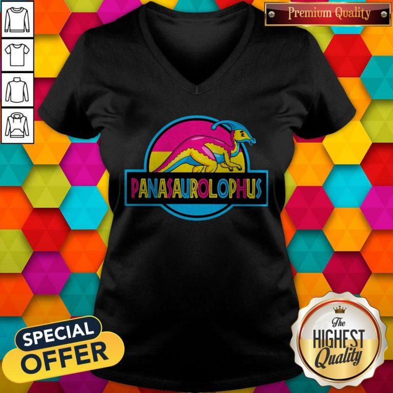 Official LGBT Panasaurolophus V-neck