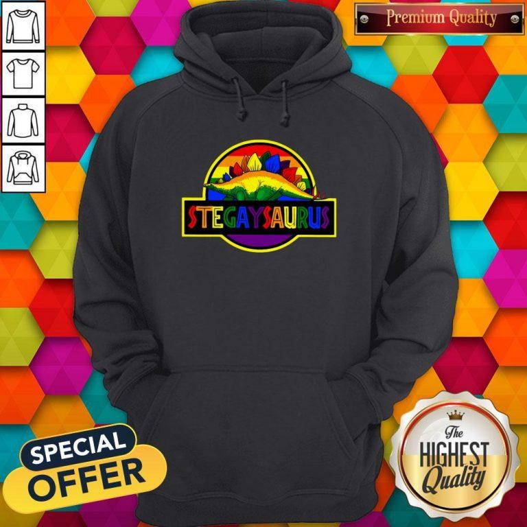 Official LGBT Stegaysaurus Hoodie