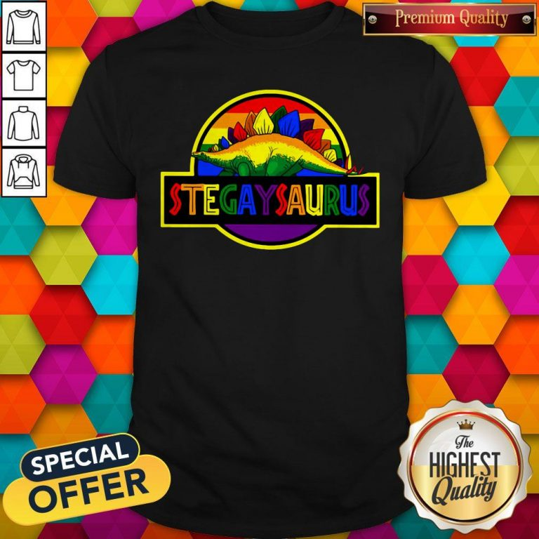 Official LGBT Stegaysaurus Shirt