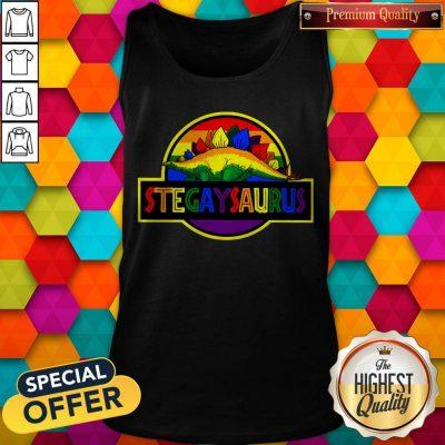 Official LGBT Stegaysaurus Tank Top