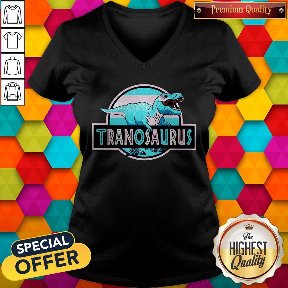 Official LGBT Tranosaurus V-neck