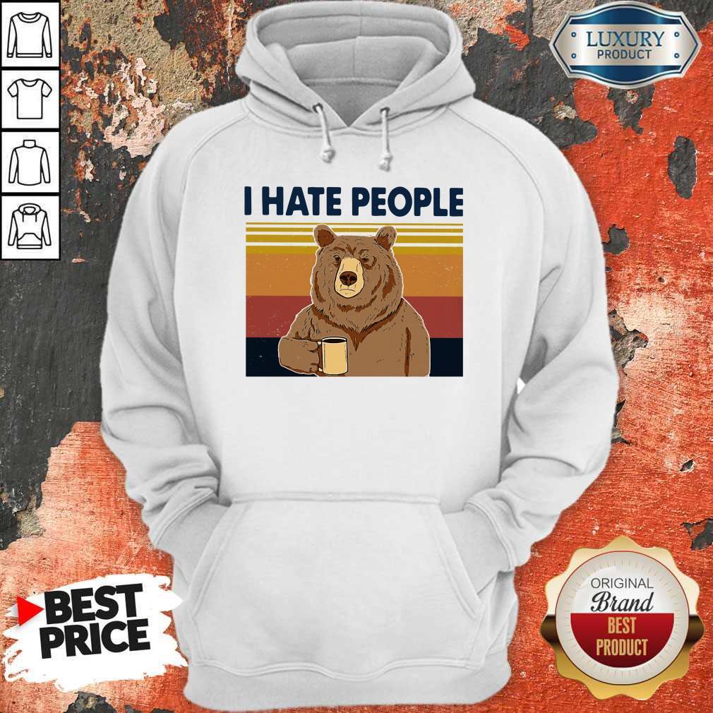 Premium I Hate People Bear Vintage Hoodie