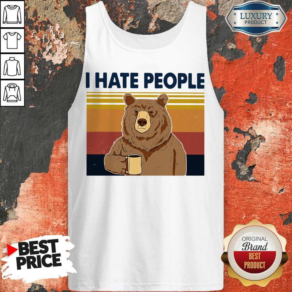 Premium I Hate People Bear Vintage Tank Top