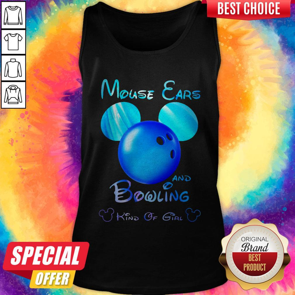 Premium Mouse Ears And Bowling Kind Of Girl Tank Top