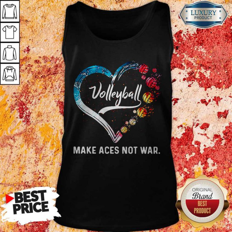 Premium Volleyball Make Aces Not War Heart Tank Top