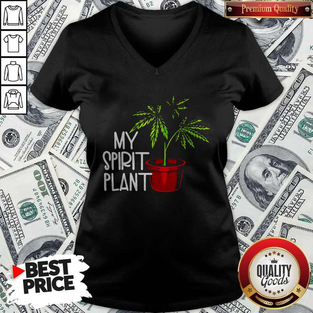 Premium Weed My Spirit Plant V-neck