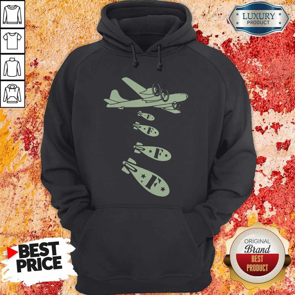 Pretty Bomber Dropping Bombs Hoodie
