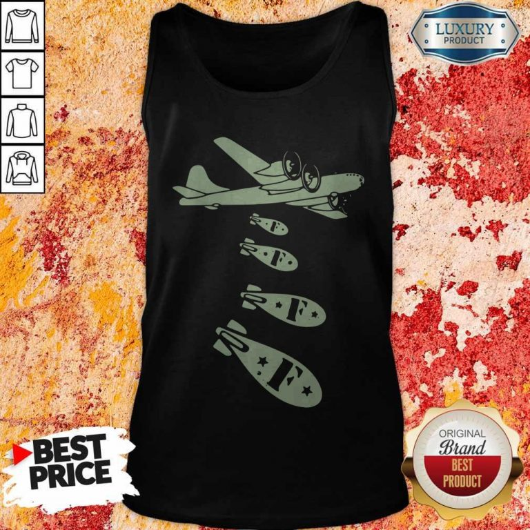 Pretty Bomber Dropping Bombs Tank Top