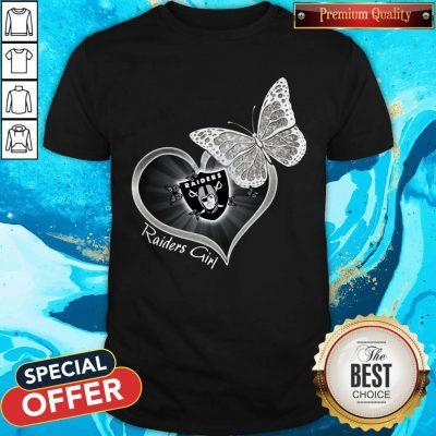 Pretty Butterfly Heart Raiders Girl Shirt